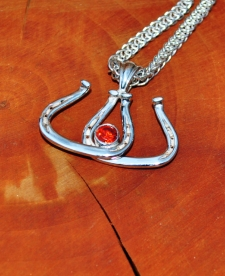 Double Scotch Bottom Horseshoe Pendant